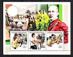 Rep. Centrafricana   -  1998.  Scoutismo. Red Cross. Primo Soccorso. First Medical Aid . MNH Sheet - Primo Soccorso