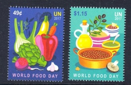 6.- UNITED NATIONS 2017 World Food Day - (New York) - (Set Mint) - Nuevos