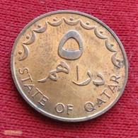 Qatar 5 Dirhams 1973 / 1393 KM# 1 Catar Katar - Qatar