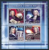D- [400732] **/Mnh-Sao Tomé-et-Principe 2009 - 250ème Anniversaire De La Découverte Comète Halley - Astronomie