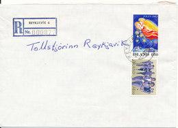 Iceland Registered Cover Reykjavik 6 25-1-1984 - 1944-... Republique