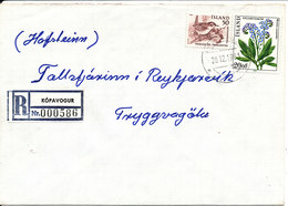 Iceland Registered Cover Kopavogur 28-12-1983 BIRD On One Of The Stamps - 1944-... Repubblica