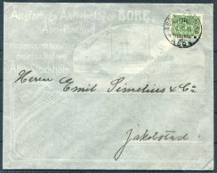 1911 Finland Abo/Stockholm Ferry BORE Illustrated Cover. Abo - Jakobstad - Covers & Documents