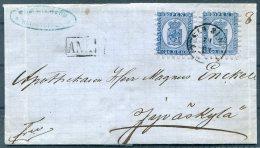 1867 Finland Helsingfors - Jyvaskyla Cover 20p X 2 - 1856-1917 Russian Government