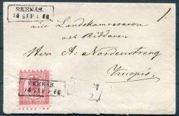 1866 Finland Cover - Kuopio, Ekenas 'low Box' Cancel. 40 Penni - 1856-1917 Russian Government