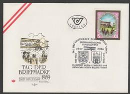 """Österreich 1989: ET/FDC """"Tag Der Briefmarke"""" - 1981-90 Usati"""