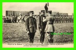 MILITARIA - FRONT DE LA SOMME -  LES LIEUTENANTS-AVIATEURS FRANÇAIS GARROS & MARCHAL AVEC LÉGION D'HONNEUR - - Guerre 1914-18