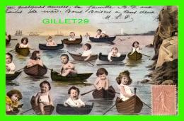 GROUPE D'ENFANT EN CHALOUPE - ALBUM DE ADO KYROU - ÉDITIONS ANDRÉ BALLAND - - Groupes D'enfants & Familles