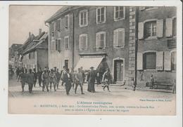 CPA - MASSEVAUX MASEVAUX - 5 Aout 1917 - Le Généralissime Pétain Avec Sa Suite - Librairie - Cachet GANIER EPINAL - Masevaux
