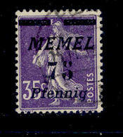 ! ! Memel - Stamp - YT 55 - Used (AA046) - Memel (1920-1924)