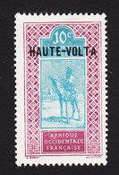 Upper Volta, Scott #8, Mint Hinged, Camel Rider Overprinted, Issued 1920 - Upper Volta (1920-1932)