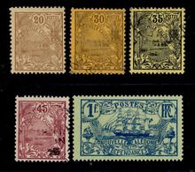 ! ! New Caledonia - 1905 Stamps - YT 94, 96, 97, 99 & 102 - MH & Used (AA035) - Nouvelle-Calédonie