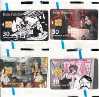 PORTUGAL(chip) - Set Of 4 Cards, Noites De Lisboa, Tirage 3000, 09/01, Mint - Portugal