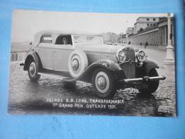 CPA PHOTO AUTOMOBILE DELAGE D 8 LONG TRANSFORMABLE - 1ER GRAND PRIX - OSTENDE 1931 - Voitures De Tourisme