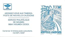 NEW CALEDONIA / NOUV CALEDONIE, 2001, Booklet / Carnet 13 , Cagou De Lisiak, Blue - Booklets
