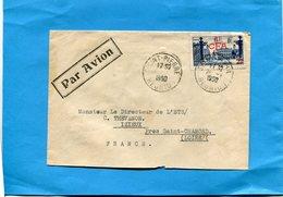 MARCOPHILIE Lettre ->Réunion- Pour Françe- Cad-1950-Stamp N°301; 8frs CFA Nancy - Réunion (1852-1975)