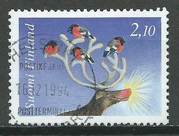 Finlande YT N°1240 Noel 1994 Renne Au Nez Rouge Oblitéré ° - Finlande
