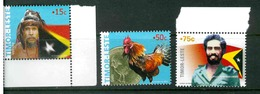 TIMOR LESTE MICHEL 377-380 MNH** FLAGS COINS BIRDS NICOLAU LOBATO - Timor Oriental