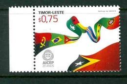 TIMOR LESTE MICHEL 389 MNH** FLAGS AICEP - East Timor