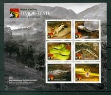 TIMOR LESTE MICHEL BL 2 MNH** REPTILES FROGS SNAKES TURTLES CROCODILES - Timor Oriental