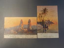 2 Cpa Abou Kourgas Et Provision D'eau.1905 - Unclassified