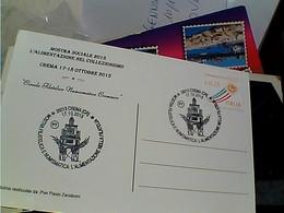CREMA MOSTRA 2015 ALIMENTAZIONE NEL COLLEZIONISMO Filatelica  TIMBRO Commemorativo Evento  N2015 GU2751 - Borse E Saloni Del Collezionismo