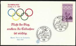 Germany Bonn 1968 / Baron Pierre De Coubertin / Olympic Games Mexico City / Athletics, Running - Zomer 1968: Mexico-City