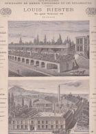 270718  Document 1878 Pub BRASSERIE PETERS Bière Viennoise Strasbourg L RIESTER 30 Quai National PUTEAUX Usine Expo 1867 - Beer