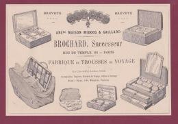 270718  - Document 1878 Pub BROCHARD Rue Du Temple PARIS Fabrique Trousse De Voyage Coffre Boite Bijou Ménagère - Other