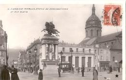 ***  63  ***  CLERMONT FERRAND  Statue De Vercingétorix Rue Blatin TTB éd étoile Super Qualité Photo - Clermont Ferrand