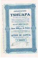 Action Ancienne - Congo - Exploitations De La Tshuapa - Titre De 1928 - Afrika