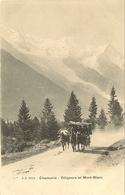 74 CHAMONIX MONT BLANC DILIGENCE ET LE MASSIF DU MONT BLANC EDITEUR JULLIEN FRERES JJ 2213 - Chamonix-Mont-Blanc