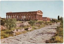 PAESTUM, Italy, Tempio Di Nettuno E Via Sacra, 1975 Used Postcard [21508] - Salerno