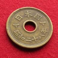 Japan 5 Yen 1953 / Yr. 28 Y# 72  Japão Japon - Japan