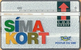 Iceland - ICE-D-05, L&G Siminn, Simakort, 100 U, 15,000ex, 1992, Mint As Scan - Iceland