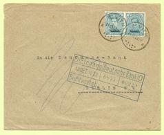 BZ 69 In Paar (opdruk Malmedy) Op Brief Stempel ST-VITH  (B8680) - [OC55/105] Eupen/Malmedy