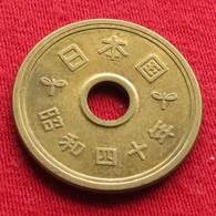 Japan 5 Yen 1965 / Yr. 40 Y# 72a  Japão Japon - Japan