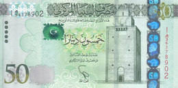 LIBYA 50 DINARS 2013 2015 P-80 AU/UNC */* - Libië