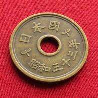 Japan 5 Yen 1958 / Yr. 33 Y# 72  Japão Japon - Japan
