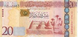 LIBYA 20 DINARS 2013 2015 P-79 AU/UNC */* - Libye