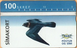 Iceland - ICE-D-10, L&G Siminn, Bird 1, 100 U, 15,000ex, 1994, Mint As Scan - Iceland
