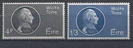 Irlande 1964 N°163/164 Neufs ** MNH Le Patriote Wolfe Tone - Neufs