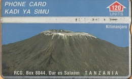 Tanzania - TAN-RC-02b, L&G, RCG, Mount Kilimanjaro, CN:402A, 120U, 8.000ex, 1994, Used - Tanzania