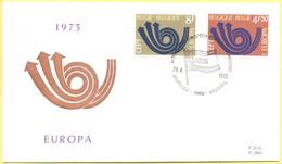 BELGIO - BELGIE - BELGIQUE - 1973 - Europa CEPT - Bruxelles - FDC - Europa-CEPT