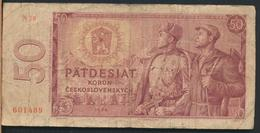 °°° CZECHOSLOVAKIA 50 KORUN 1964 °°° - Cecoslovacchia
