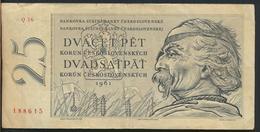 °°° CZECHOSLOVAKIA 25 KORUN 1961 °°° - Cecoslovacchia