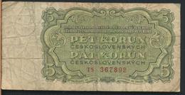 °°° CZECHOSLOVAKIA 5 KORUN 1961 °°° - Tchécoslovaquie