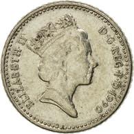Monnaie, Grande-Bretagne, Elizabeth II, 5 Pence, 1990, TTB, Copper-nickel - 1971-… : Monnaies Décimales