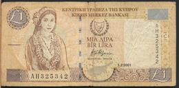 °°° CYPRUS CIPRO 1 LIRA 2001 °°° - Chypre