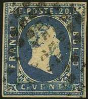 """REGNO DI SARDEGNA  - Tipologia: O - I Em. C.20 Azzurro N.5 - Sassone N.2 - P.V.<br /> Qualit&agrave;: """"B"""" - 61366FOG - Sardegna"""